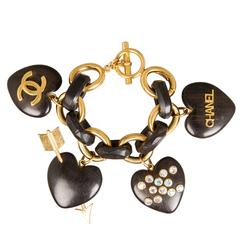 Fabulous and Rare CHANEL Heart Bracelet