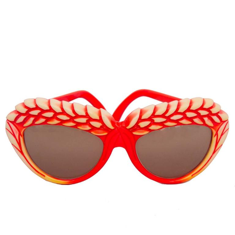 A Pair of 1980s Red Isabel Canovas Sunglasses