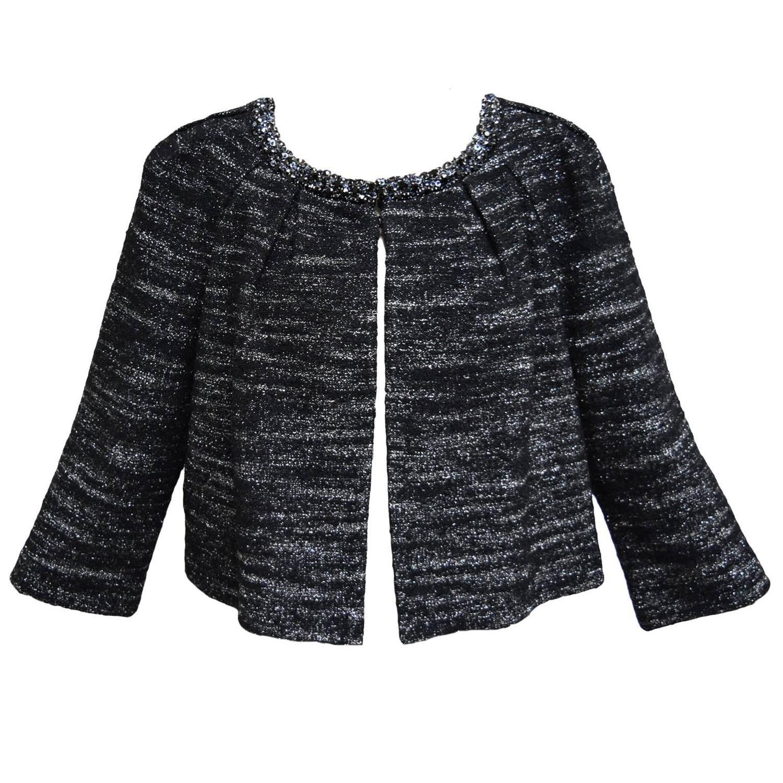 St. John Crop Knit Evening Jacket For Sale at 1stdibs