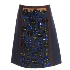 Prada A-Line Skirt With Jewel Embellished Front Panel, Spring - Summer 2005