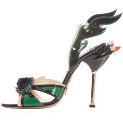 Prada Jewel Toe Tail Light Flame Sandals, Spring - Summer 2012
