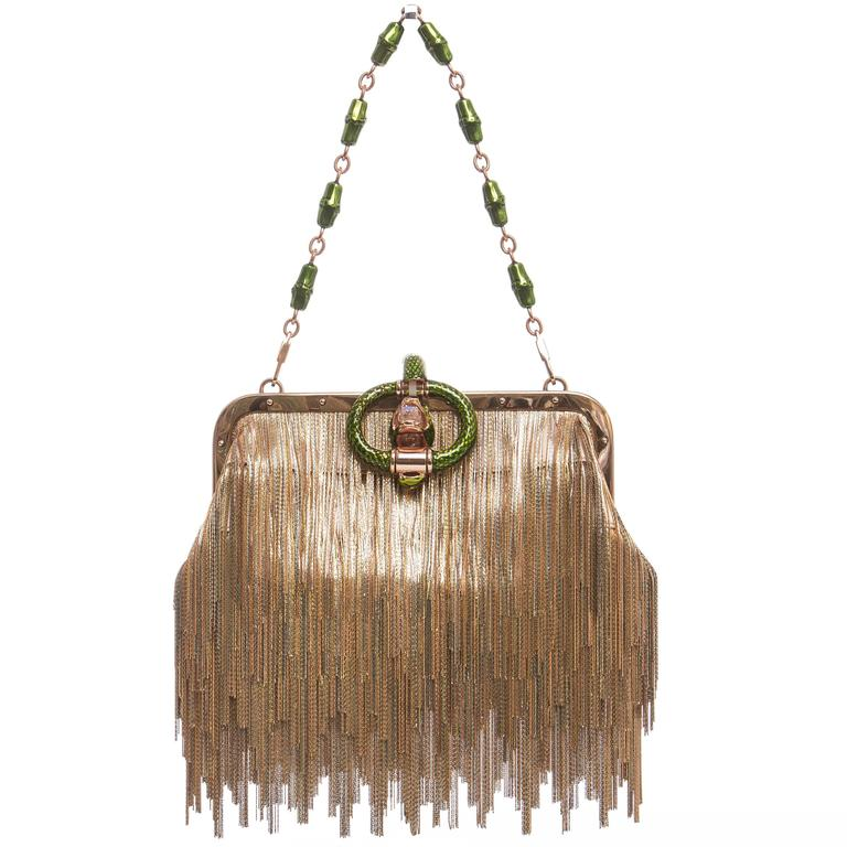 Tom Ford For Gucci Dragon Chain Fringe Evening Bag, Spring - Summer 2004 For Sale