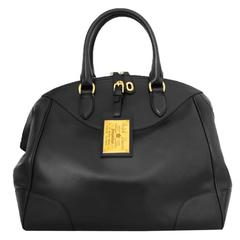 Ralph Lauren Black Leather Bedford Bag