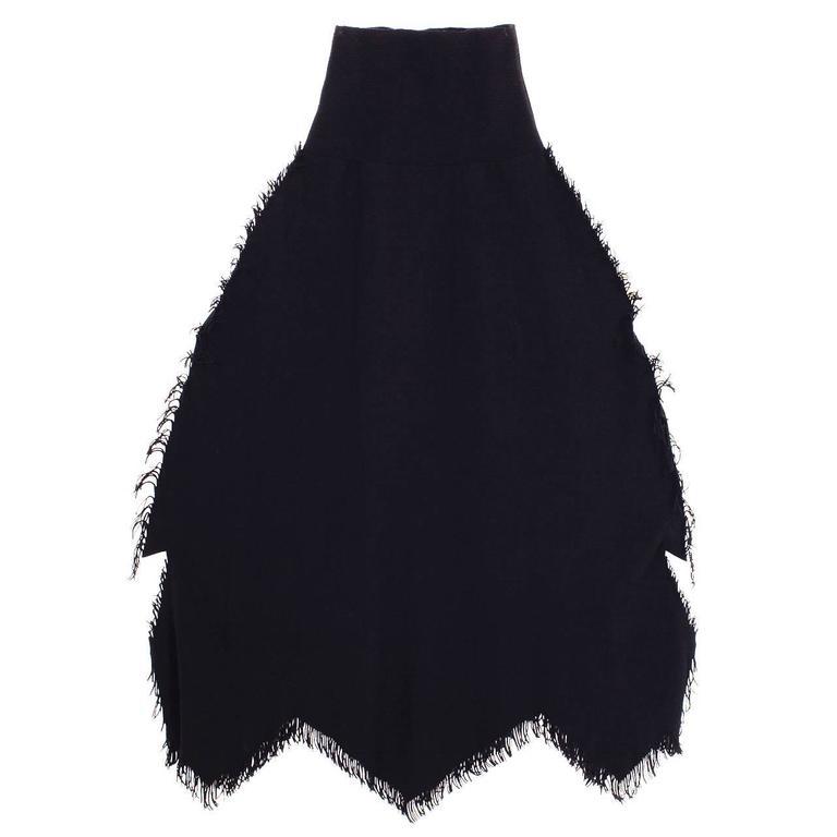 Issey Miyake APOC Fringe Detail Skirt 1990s