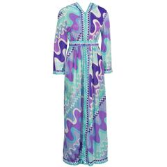 1960's Pucci Formfit Rogers Hooded Maxi Cover-up