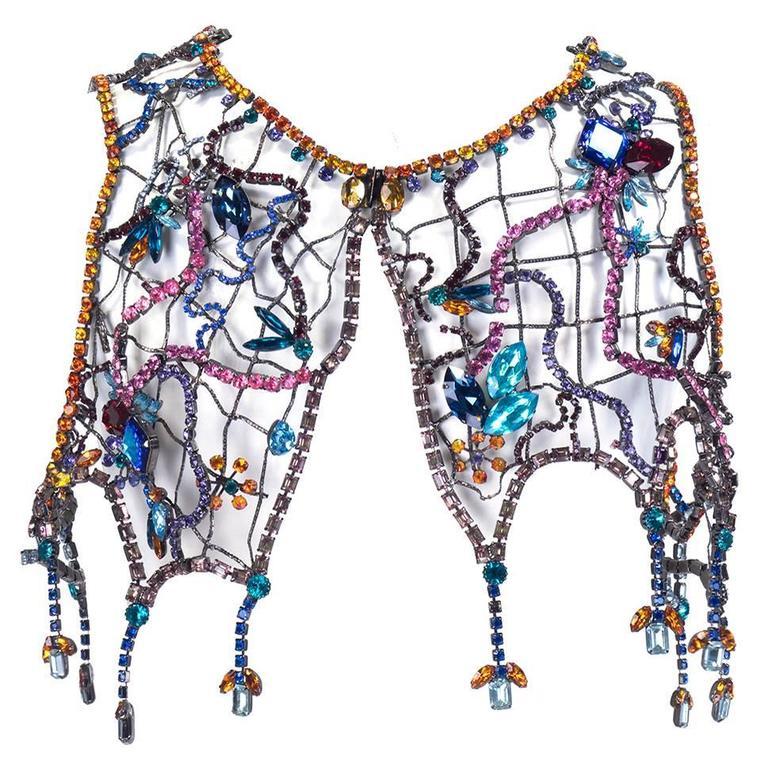 Stunning Multi-Color Jewelled Chain Bolero 1