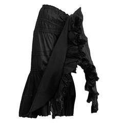 Free Shipping: Tom Ford's YSL Rive Gauche FW 2001 Black Gypsy Boho Runway Skirt!