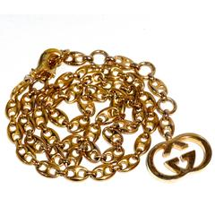 1970s Gucci Anchor Link Pendent Necklace