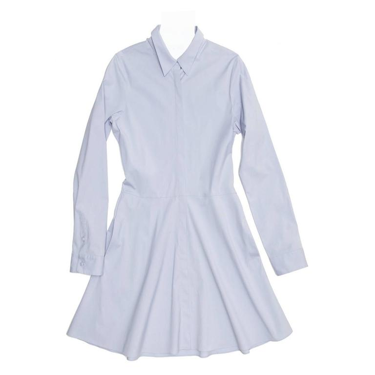The Row Light Blue Shirt Dress