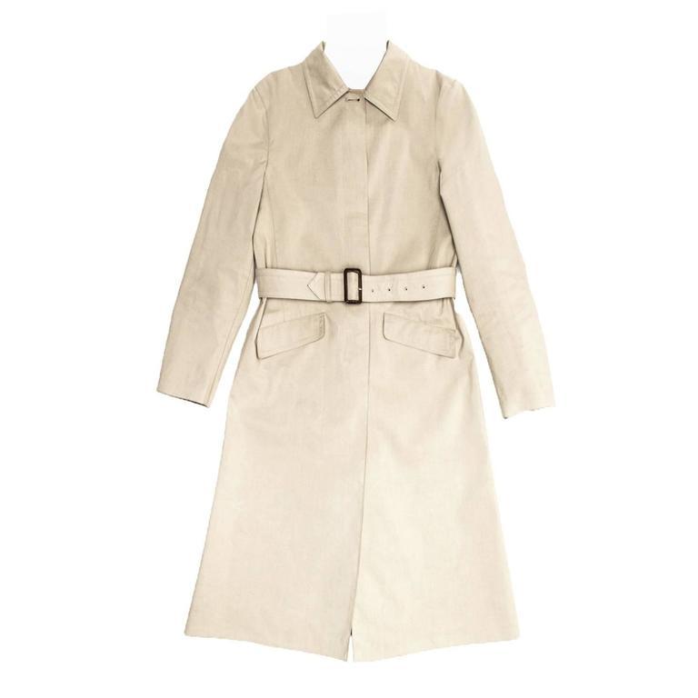 Prada Khaki Cotton Trench Coat