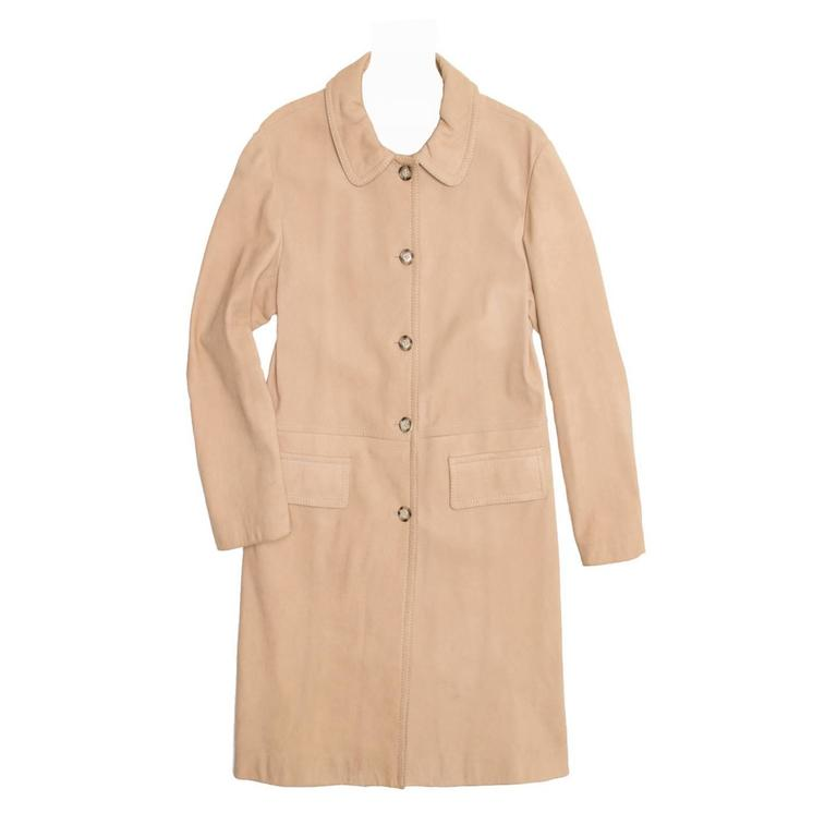 Prada Tan Soft Leather Coat