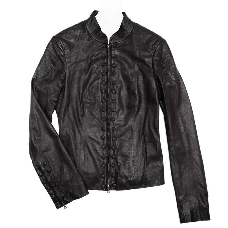 Lwren Scott Black Leather Zip Jacket