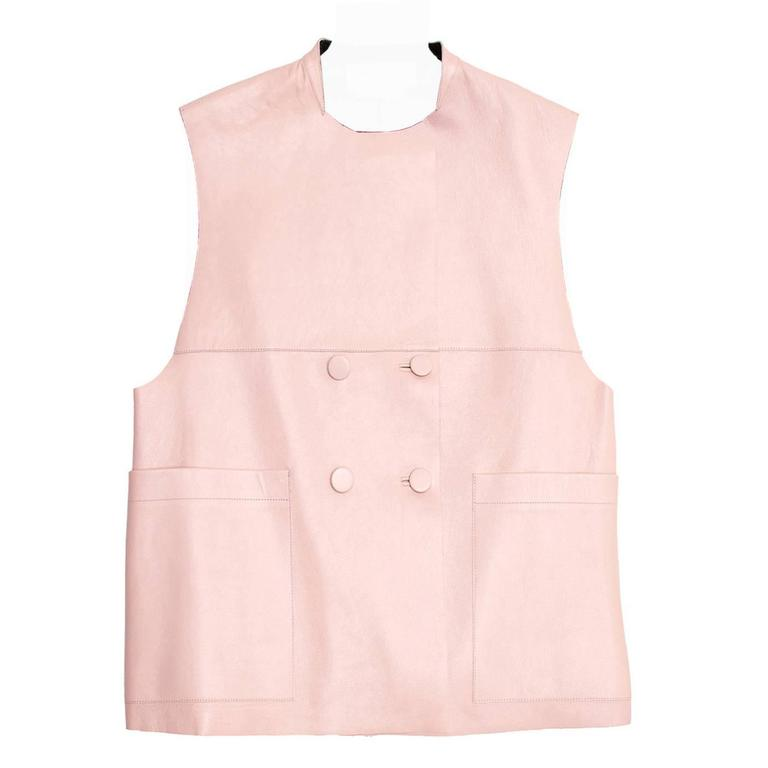 Marni Pink & Black Leather Vest