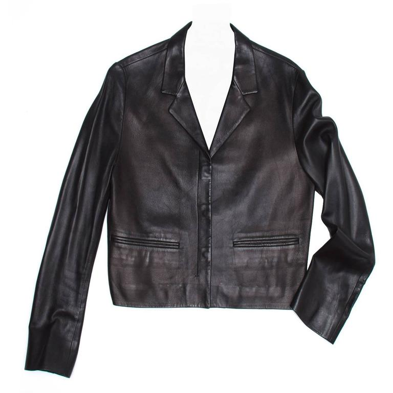Prada Black Nappa Leather Jacket