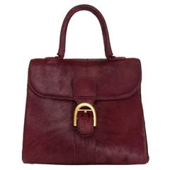 Rare Delvaux Brillant Bordeaux Calfshair