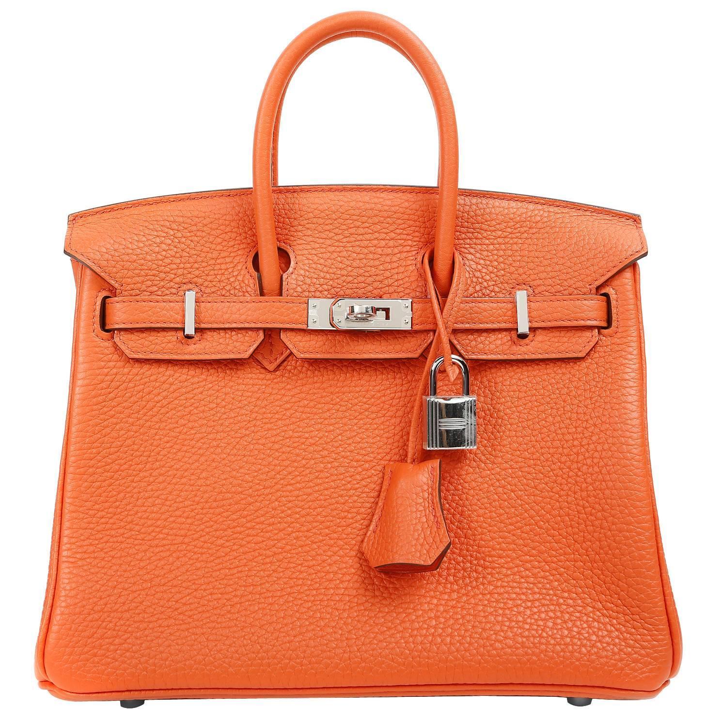 ff55dbb7fc Hermès Poppy Togo Birkin Bag- 25 cm with Palladium For Sale at 1stdibs