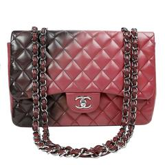 Chanel Bordeaux Degrade Jumbo Classic Flap Bag