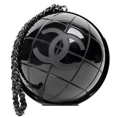 Chanel Black Globe Clutch- Runway collectible