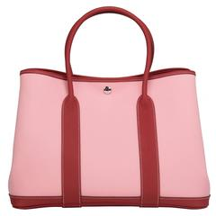 Hermes Rose Sakura Canvas Garden Party GM