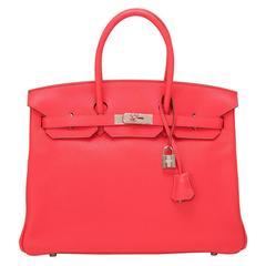 ... argile tadelakt birkin 35cm guilloche palladium hardware replica hermes  birkin bags - Vintage Herm  s Top Handle Bags - 781 For 25288d45ba38b
