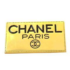 Chanel Vintage Gold Rectangular Brooch