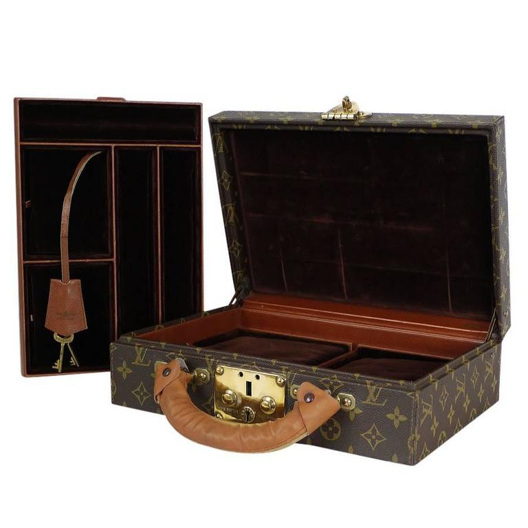 Louis Vuitton Monogram Jewellery Case M47140 Rare For Sale