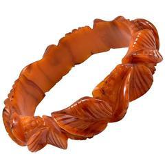 Lovely Carved Bakelite Bracelet