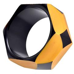 Geometric Bakelite Bangle Bracelet