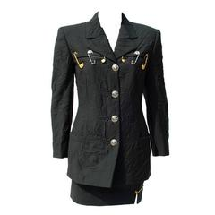 Museum Quality Gianni Versace Safety Pin Suit Spring 1994