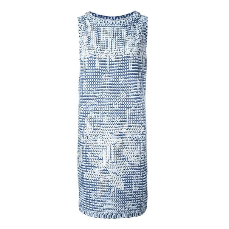 Chanel Geometric Print Knitted Dress For Sale