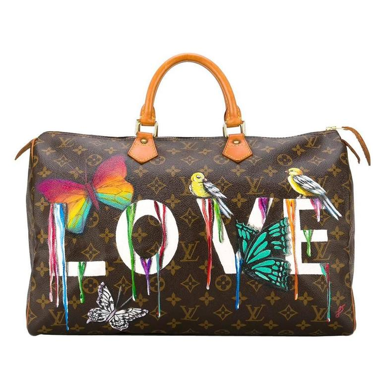 Customised Louis Vuitton Vintage 39 Dripping Love 39 Bag At