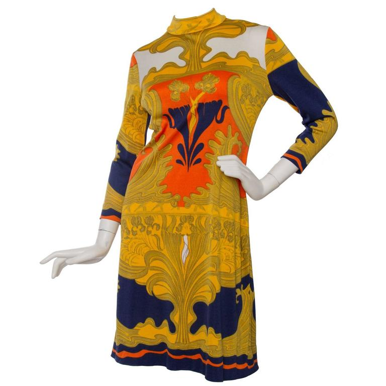 1970s Lanvin Printed Summer Dress 1
