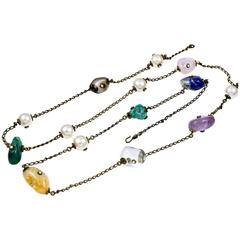 Gorgeous Chanel Semi-Precious Stone Long Necklace