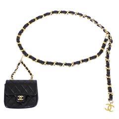 Chanel Chain Belt With Micro Mini Classic Bag Charm 1990s