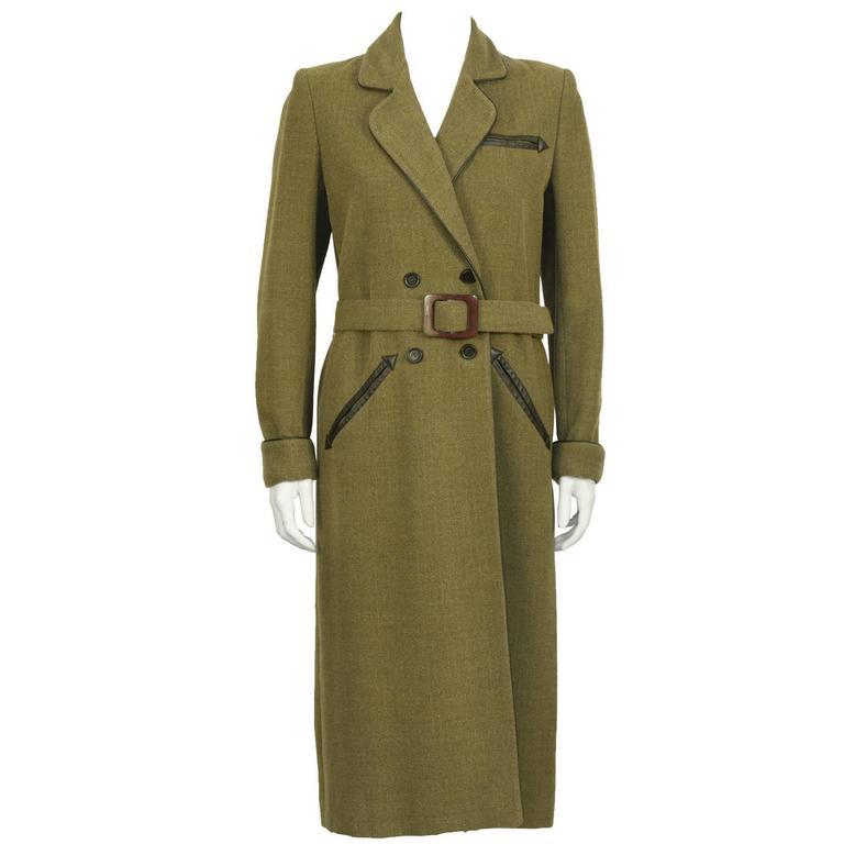 1960's Jean Louis Scherrer Double Breasted Maxi Coat