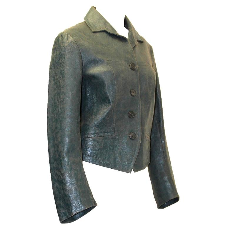 1990s Dries Van Noten Leather Jacket
