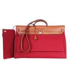 Hermes Herbag Zip GM 2way Shoulder Bag Rare