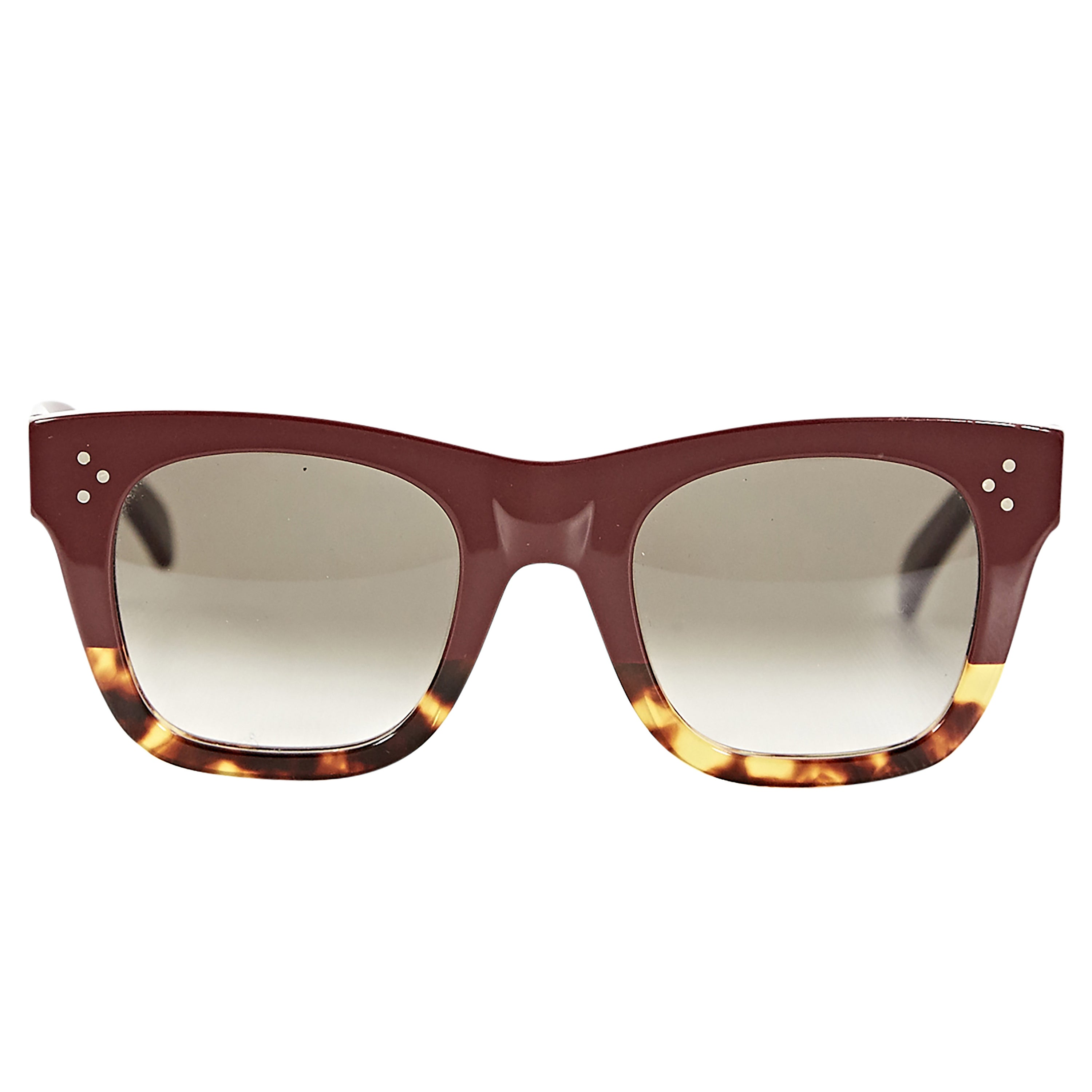 ac2bfee5fa Burgundy and Tortoise Celine Catherine Sunglasses at 1stdibs