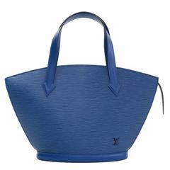 Louis Vuitton Saint Jacques PM Blue Epi Leather Hand Bag