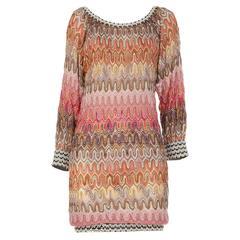 Stunning Missoni Chevron Crochet Knit Dress