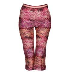 Missoni Cropped Zigzag Knit Cropped Capri Pants