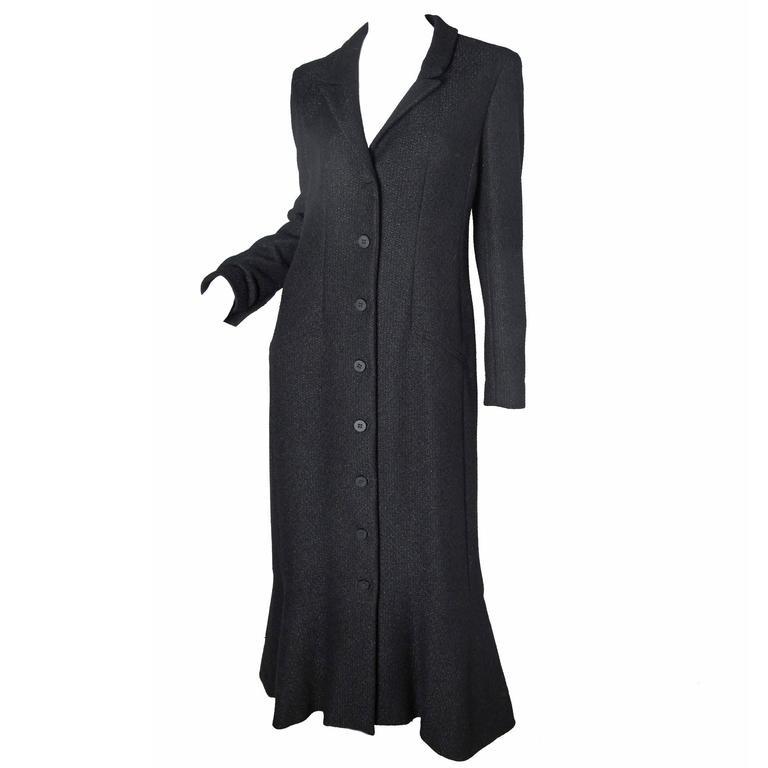 Chanel Coat Dress with Ruffle Hem -sale