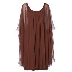 Halston brown dress, circa 1975
