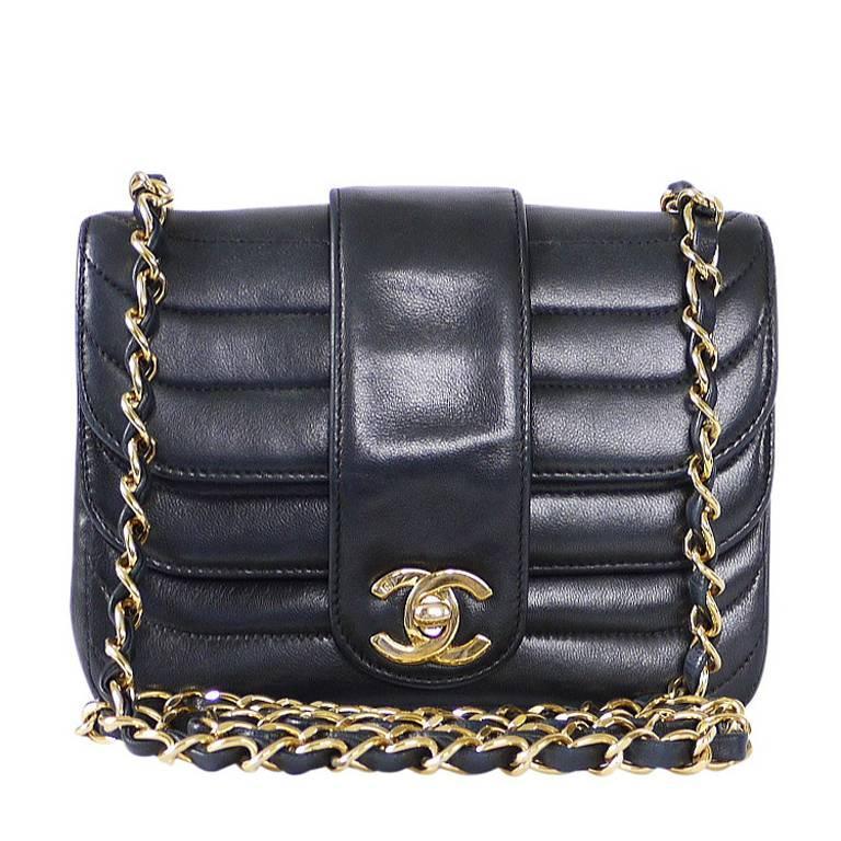 f86eeb2c181512 Vintage Chanel Black Lambskin Mini Classic Bag Rare at 1stdibs
