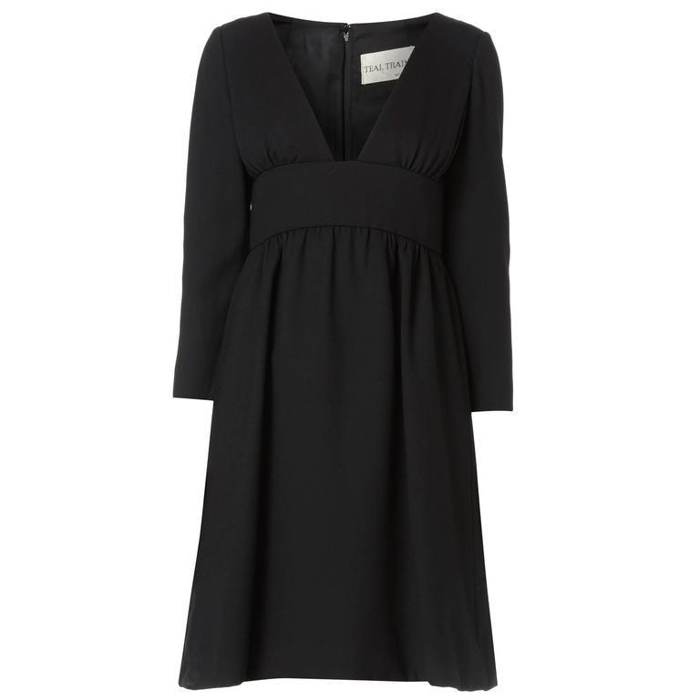 Teal Traina black dress, circa 1968