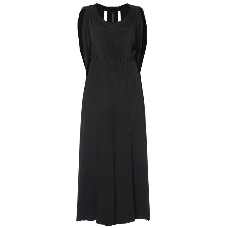 Jean Patou haute couture black dress, Autumn/Winter 1932 For Sale