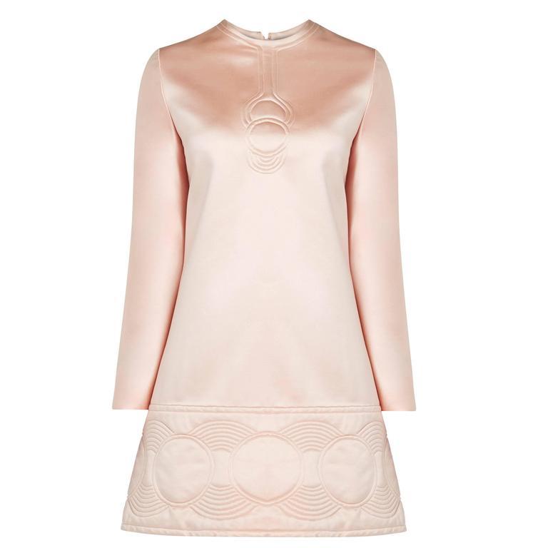 Pierre Cardin haute couture pink dress, Autumn/Winter 1969 For Sale