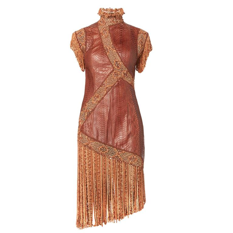 Givenchy snakeskin dress, Spring/Summer 2001