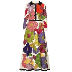 Blums-Vogue multicoloured skirt & jacket, circa 1968