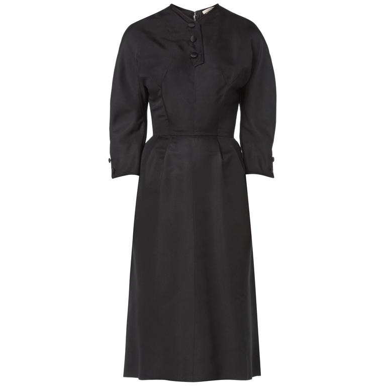 Hattie Carnegie black dress, circa 1963 1